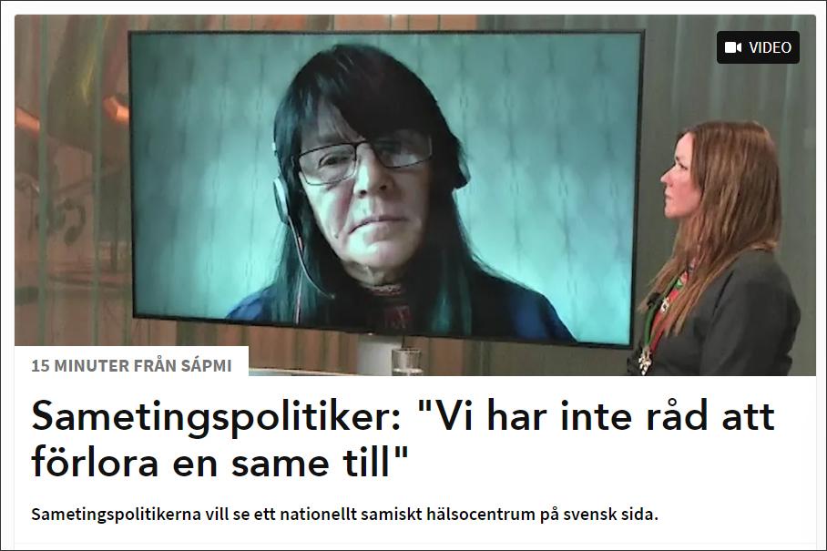 Marie Persson Njajta deltar i 15 minuter från Sápmi